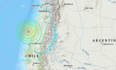 Seismo de magnitud 6,6 sacude el centro y sur de Chile