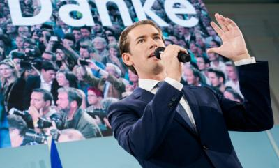 El líder conservadorSebastian Kurz