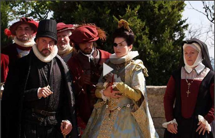 """Una escena de la película """"Ea conjura del Escorial""""..."""