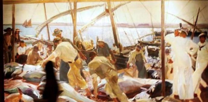 """""""La Pesca del Atún"""", cuadro de Joaquín Sorolla"""