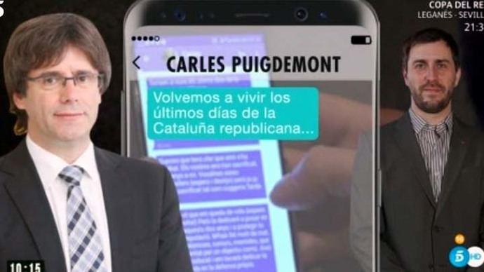 Los mensajes de Puigdemont a Toni Comín: 'Esto se ha terminado. Nos han sacrificado los nuestros'