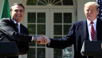 El presidente de Brasil, Jair Bolsonaro, fue recibido en la Casa Blanca por su par estadounidense, Donald Trump, en julio de este año.