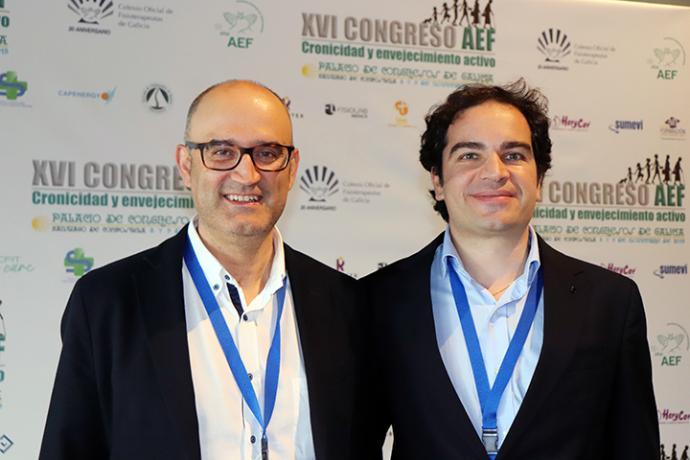De izquierda a Derecha: Miguel Ángel Galán y Federico Montero