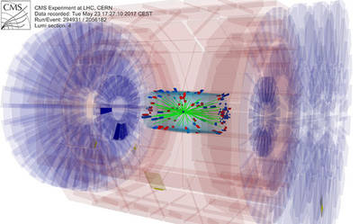 Registro de datos del experimento CMS efectuado este 23 de mayo