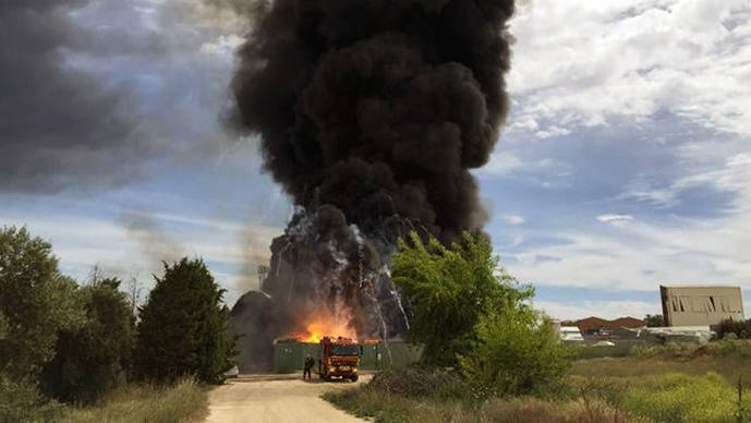 Explosión en una planta industrial en Arganda del Rey