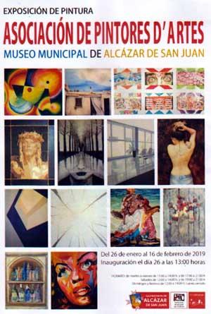 El grupo D´artes, expone en el Museo Municipal de Alcázar de San Juan