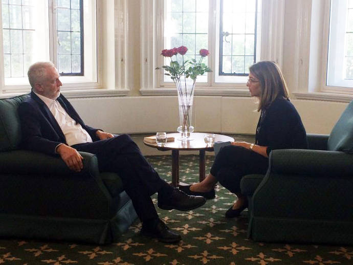 U.K. Labour leader Jeremy Corbyn, who led his party to secure more of the vote share than any party leader since WWII, recently met with The Intercept's Naomi Klein in London
