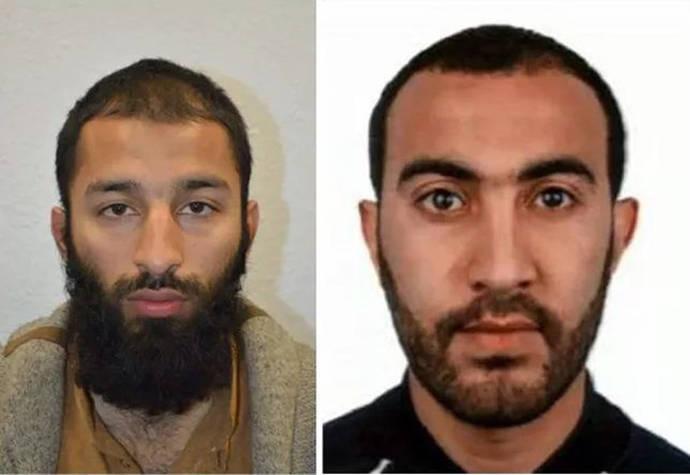 Identificados dos de los tres terroristas de Londres como Khuram Shazad Butt y Rachid Redouane