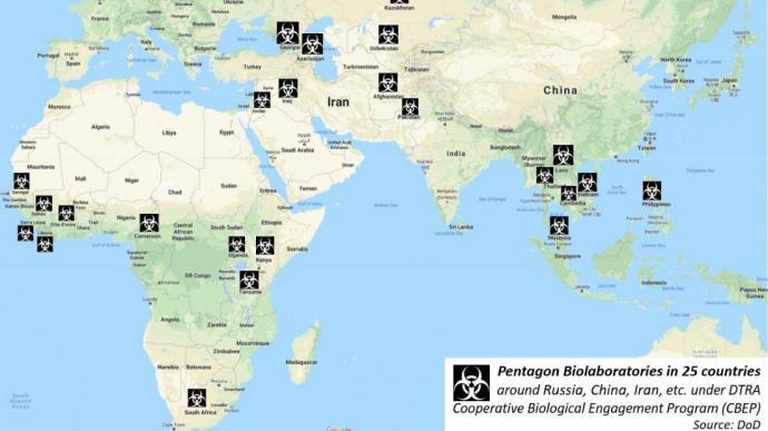 Labotariorios biológicos de EE.UU en 25 países