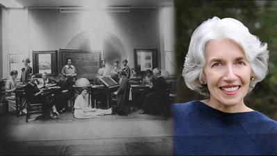 Dava Sobel (a la derecha) recoge en su obra El universo de cristal la historia de las mujeres del Observatorio de Harvard (a la izquierda) que hace un siglo nos acercaron a las estrellas