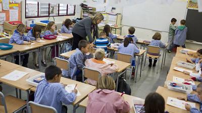 Un aula durante la jornada escolar. Foto de archivo