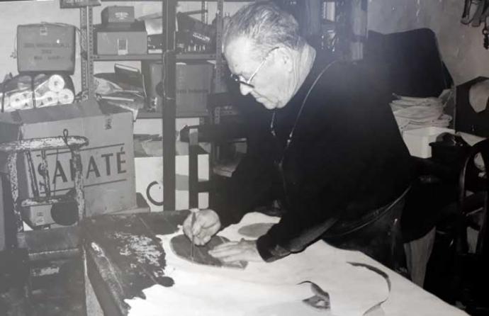 Manuel Fresneda en su taller