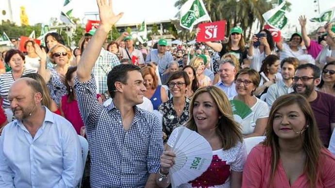 Mitin de Pedro Sánchez y Susana Díaz del cierre de la campaña del 26J en Sevilla