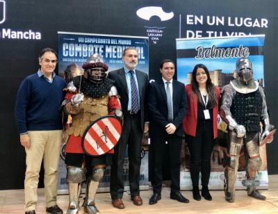 El Castillo de Belmonte presentó oficialmente en FITUR el Campeonato Mundial de Combate Medieval