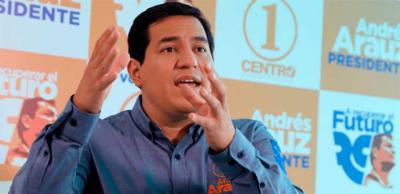 La intención de voto, para las presidenciales en Ecuador, da como favorito al candidato por el movimiento del correísmo, Andrés Arauz (UNES).