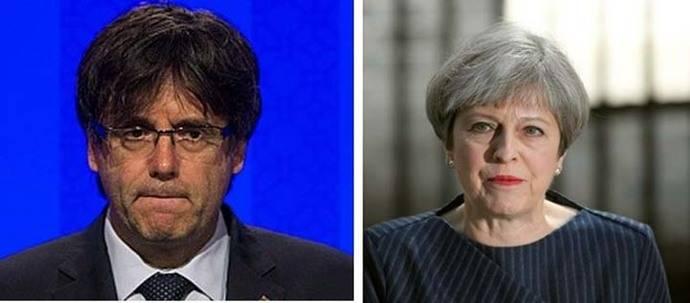 Què pot sortir mál? Los pelillos a la mar de Carles Puigdemont y Theresa May