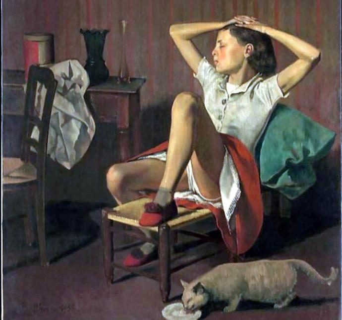 Uno de los cuadros del pintor Balthus que provocó polémica cuando fue  exhibido en el MET de Nueva York por la postura sugerente de una niña