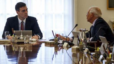 Sánchez y Borrell en una imagen de archivo