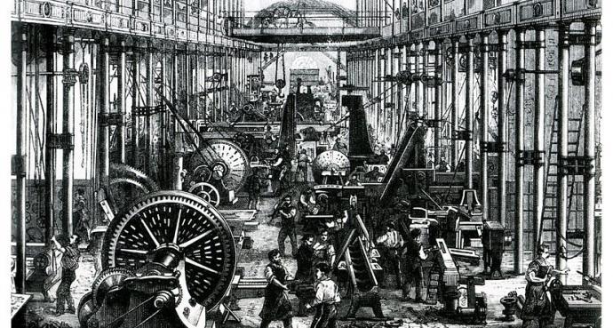 """La """"primera"""" Revolución Industrial se desarrolló en Inglaterra en la segunda mitad del siglo XIX..."""