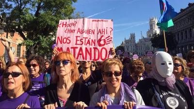 Pancarta de la manifestación del 7N