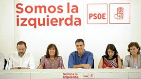 Pedro Sánchez preside la primera reunión de la Ejecutiva del PSOE