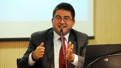 El concejal de Economía y Hacienda del Ayuntamiento de Madrid, Carlos Sánchez Mato, en una rueda de prensa