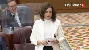 Isabel Díaz Ayuso, presidenta de la Comunidad de Madrid (captura de pantalla)