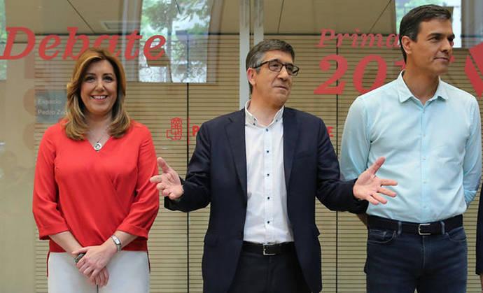 Susana Díaz y Pedro Sánchez agudizan su enfrentamiento en un debate del que no esperan ningún vuelco