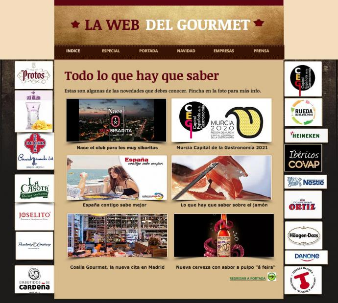 Nace la web del gourmet, un espacio original para la buena gastronomía y los vinos