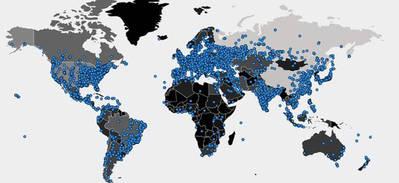 WCry en todo el mundo en las últimas 24 horas