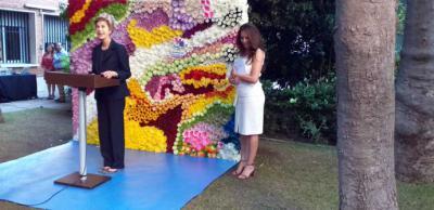 Embajadora colombiana en Madrid señora Carolina Barco y Alba Lucía Reyes 1º Secretario