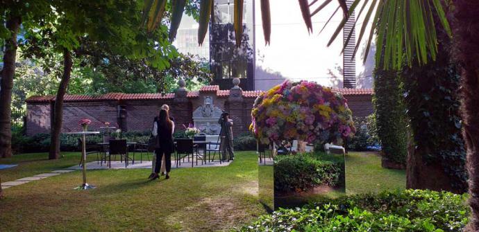 Jardín con flores colombiana
