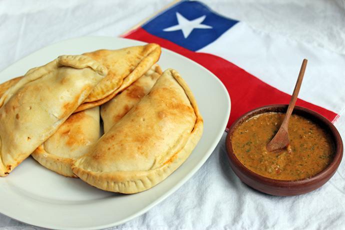 Típica empanada chilena