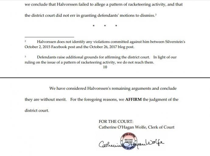 Tribunal Estadounidense desestima también la apelación en la segunda demanda de Halvorssen contra Alejandro Betancourt por falta de pruebas
