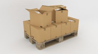 El embalaje con cajas de cartón