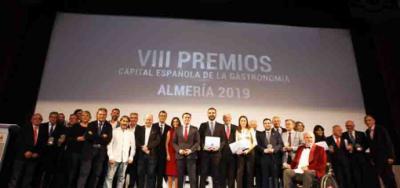 """Almería se vistió de gala para entregar los Premios """"Capital Española de la Gastronomía"""" 2019"""