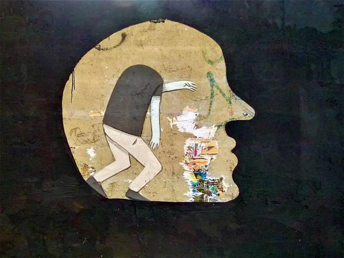 Hombre sin cabeza - Arte Urbano en Valencia