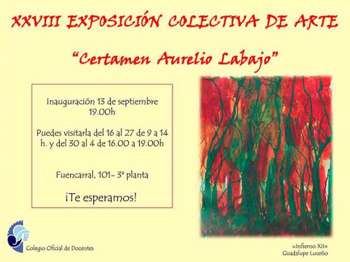"""Este viernes se inaugura la XXVIII Exposición colectiva """"Certamen de Arte Aurelio Labajo"""""""