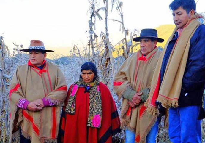 La comunidad indígena indio Colalao, del pueblo Diaguita denuncia la falta de dialogo durante el desalojo a las 16 familias