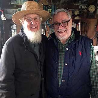Con James en su taller