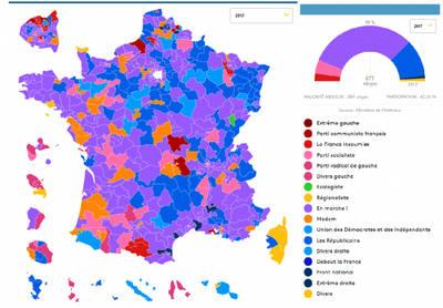 Macron: mayoría absoluta en Francia con 60 % de abstención