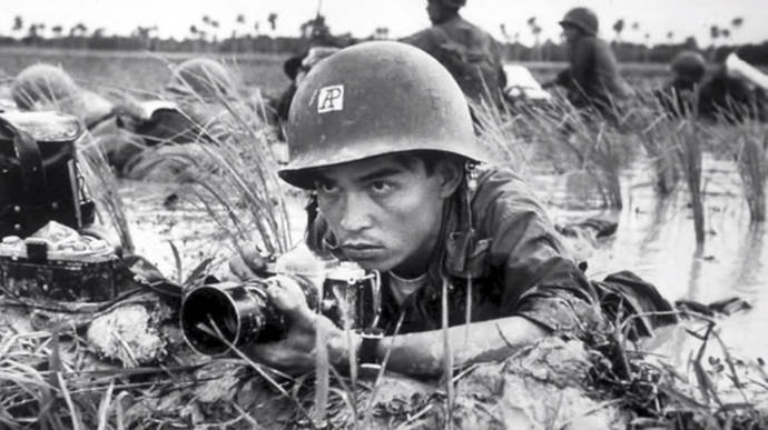 Huynh Thanh My, fotógrafo de Associated Press, en la guerra de Vietnam