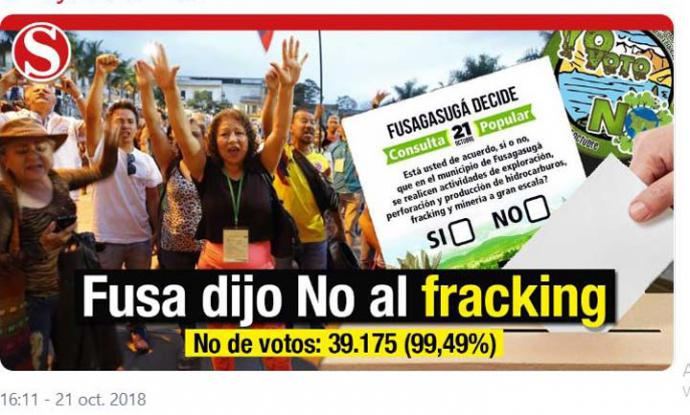 """Fracking responsable"" y otros disparates del gobierno colombiano"