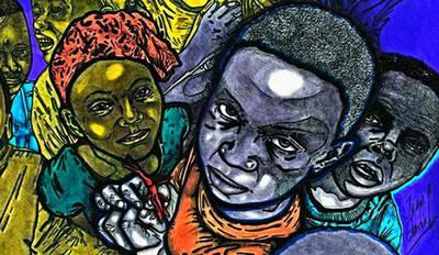 Esperanza de Haití, en medio de la horrible noche, del artista plástico Jean García Gómez