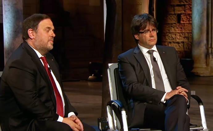 Oriol Junqueras (i) y Carles Puigdemont en una foto de archivo