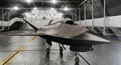 Prototipo del dron Kratos Valkyrie XQ-222
