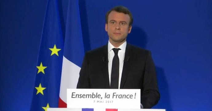 Macron, tras su victoria: