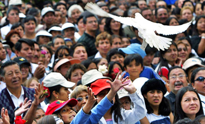 Actividad de la Marcha Mundial por la Paz y la No Violencia en Ecuador, 2009