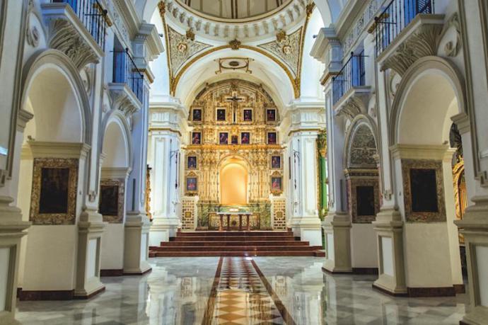 Festividad de San Patricio en la iglesia de Santiago apóstol de Málaga
