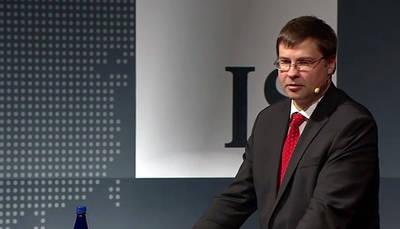 El vicepresidente de la Comisión Europea (CE) para el Euro, Valdis Dombrovskis